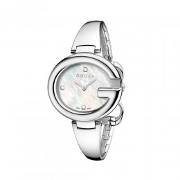 Gucci YA134303 Guccissima Mother of Pearl Diamond Accented Woman's Watch