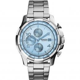 Fossil FS5155 Dean Chronograph Stainless Steel Blue Dial Men's Watch