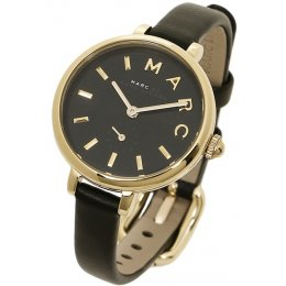 Marc by Marc Jacobs MJ1423 Sally Gold-Tone Black Leather Strap Women's Watch