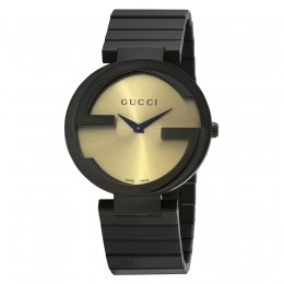 Gucci YA133314 Interlocking-G Grammy Black Women's Watch
