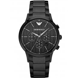 Emporio Armani Men's AR2485 Dress Analog Display Analog Quartz Black Watch