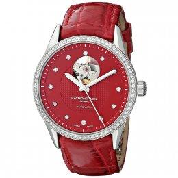Raymond Weil 2750-SLS-62081 Freelancer Analog Display Red Women's Watch