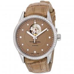 Raymond Weil 2750-SLS-66081 Freelancer Analog Display Brown Women's Watch