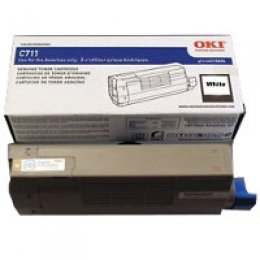 Okidata 44318661 White Toner Cartridge for C711WT Printer