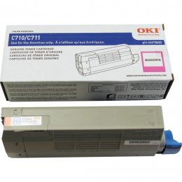 Okidata 44318602 Magenta Toner Cartridge for C711 Printer Series