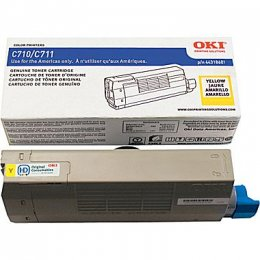 Okidata 44318601 Yellow Toner Cartridge for C711 Printer Series