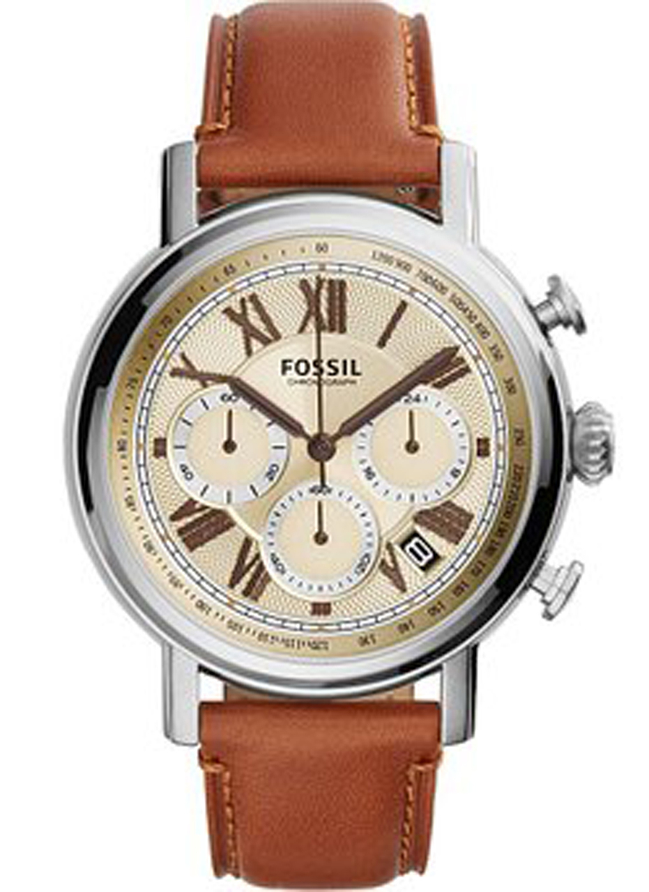 fossil fs5117 buchanan leather chronograph men 39 s watch. Black Bedroom Furniture Sets. Home Design Ideas
