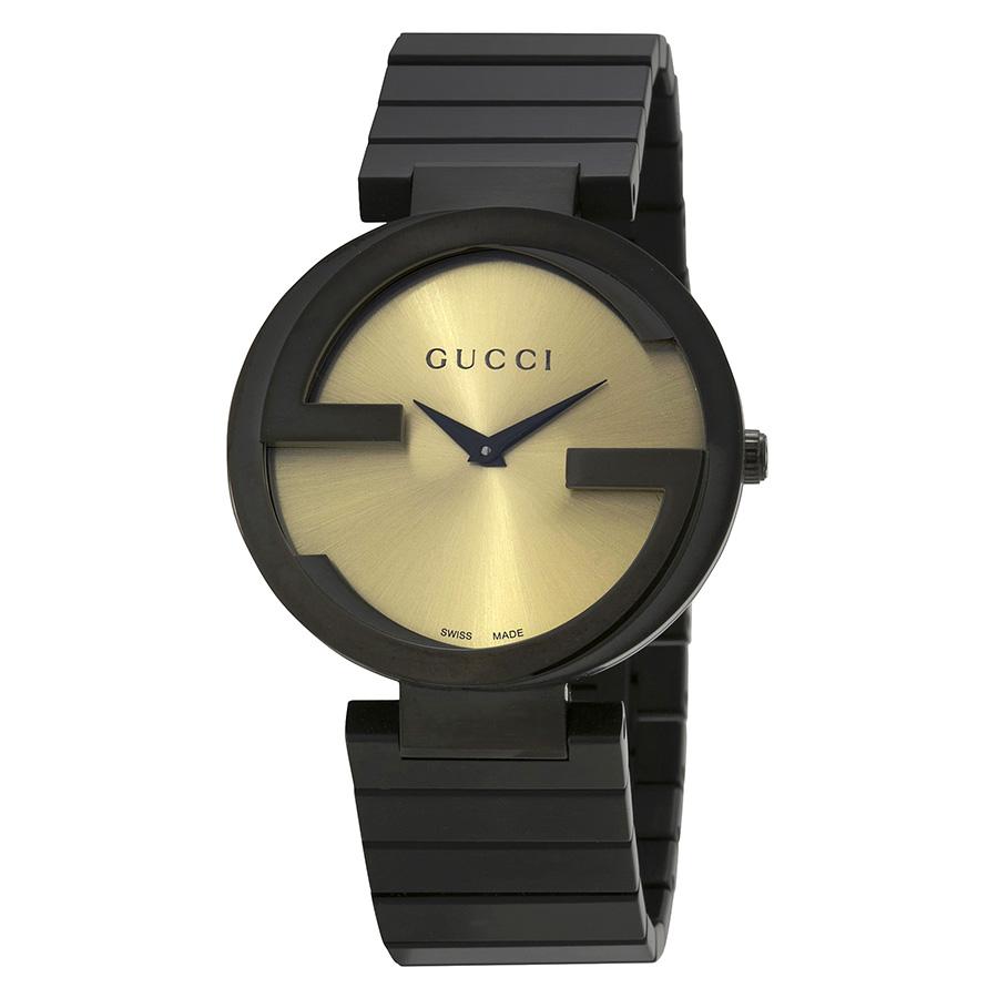 d6a5f6c5856 Gucci YA133314 Interlocking-G Grammy Black Women s Watch - Copyfaxes