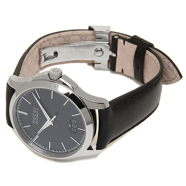 e88a6d47632 Gucci YA126443 G-Timeless Automatic Black Leather Band Men s Watch.  previous image next image. previous image next image. previous image next  image
