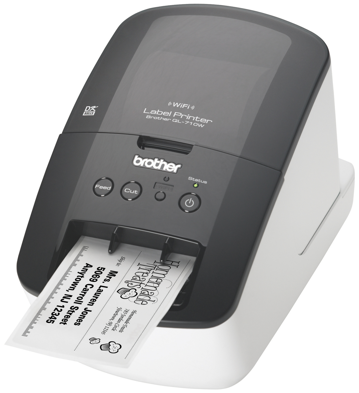 brother ql 710w high speed label printer copyfaxes. Black Bedroom Furniture Sets. Home Design Ideas