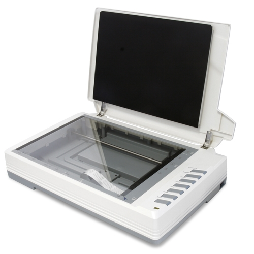 "Oversize large format scanner ideal for scrapbookers and scarpbooking. Scan up to 12"" x 17"" documents fast and easy."