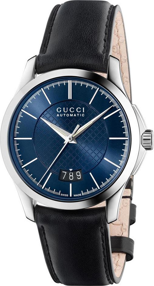 39edd32c9ff Gucci YA126443 G-Timeless Automatic Black Leather Band Men s Watch