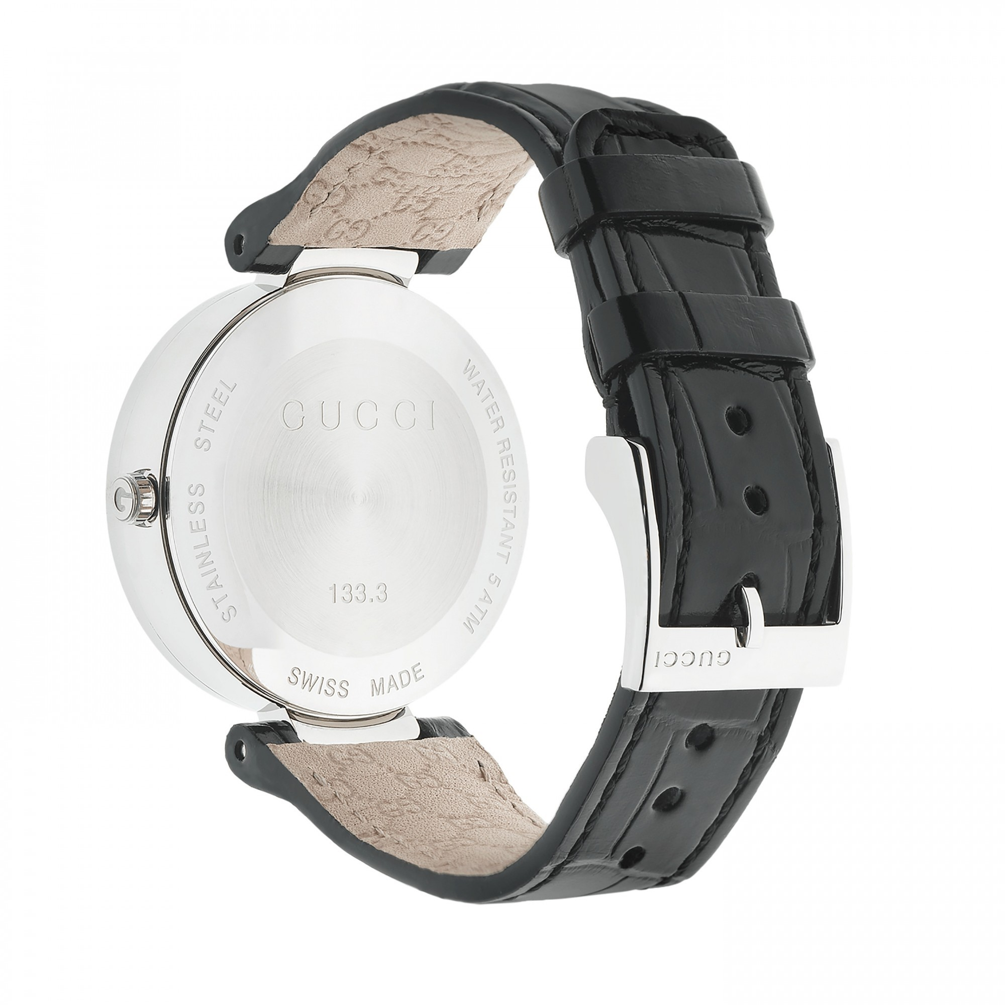 a4925f7f789 Gucci YA133306 Interlocking-G Diamond Set Leather Band Women s Watch.  previous image next image. previous image next image. previous image next  image