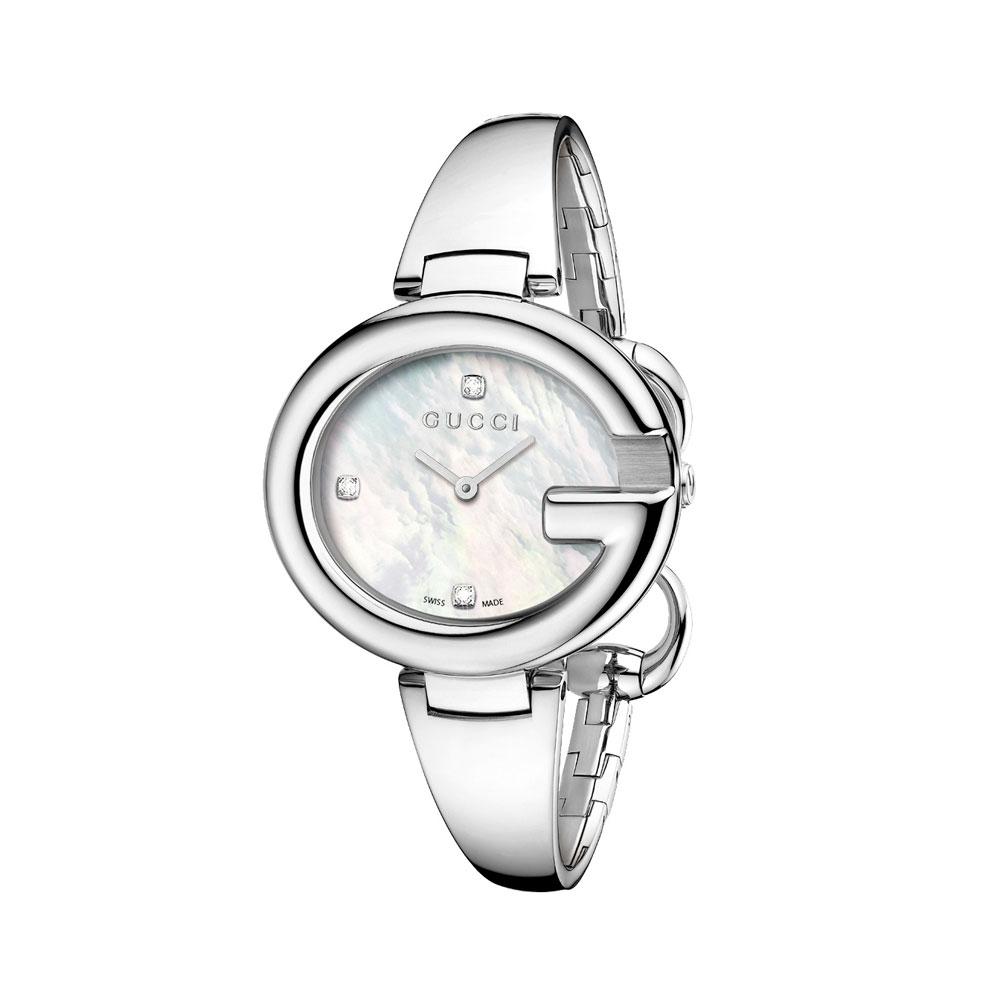 2d3e91492e1 Gucci YA134303 Guccissima Mother of Pearl Woman s Watch - Copyfaxes
